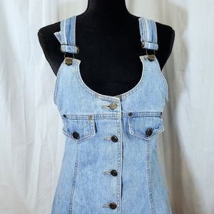 Free People Peace by Piece Denim Overall Dress